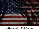 closeup of ruffled american... | Shutterstock . vector #308165627
