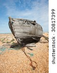 Abandoned Shipwreck Of Wood...