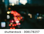 Bokeh Light From Traffic Cars...