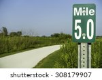 Marker At Mile 5 By Gravel Pat...