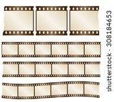 vector retro worn torn film... | Shutterstock .eps vector #308184653