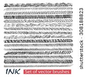 billets vector grunge brushes... | Shutterstock .eps vector #308188823