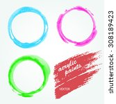 set of vector acrylic circles.  | Shutterstock .eps vector #308189423
