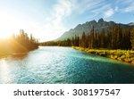 Castle Mountain In Banff...