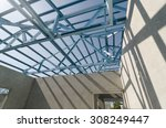 structure of steel roof frame... | Shutterstock . vector #308249447