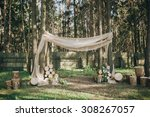 arch for the wedding ceremony... | Shutterstock . vector #308267057
