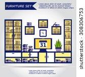 illustration of office...   Shutterstock .eps vector #308306753