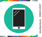 flat smartphone icon in a... | Shutterstock .eps vector #308311037