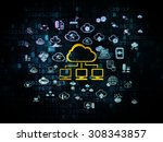 cloud computing concept  cloud... | Shutterstock . vector #308343857