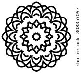 circular pattern. round vector... | Shutterstock .eps vector #308359097