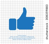 thumb up icon  vector... | Shutterstock .eps vector #308359883