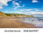 Robin Hoods Bay Beach In North...