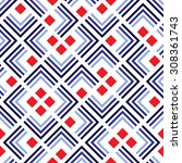 seamless pattern of geometric... | Shutterstock .eps vector #308361743