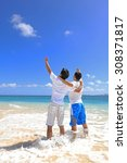 young men on beach | Shutterstock . vector #308371817