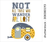 vector illustration  camper... | Shutterstock .eps vector #308380193