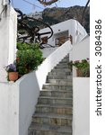 traditional greek island house... | Shutterstock . vector #3084386