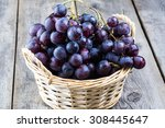 Close Up Of Black Grapes In A...
