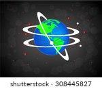 international vector globe... | Shutterstock .eps vector #308445827