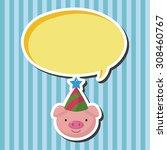 animal pig cartoon  cartoon... | Shutterstock . vector #308460767