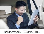 portrait of successful... | Shutterstock . vector #308462483