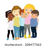 group of kids | Shutterstock .eps vector #308477363