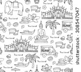 vector seamless pattern on the... | Shutterstock .eps vector #308547047