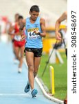 Small photo of BARCELONA - JUNE, 13: Neeraj Neeraj of India during 10000 metres race walk event of of the 20th World Junior Athletics Championships at the Olympic Stadium on July 13, 2012 in Barcelona, Spain
