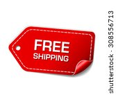 free shipping red vector icon... | Shutterstock .eps vector #308556713