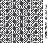 seamless pattern of braided... | Shutterstock .eps vector #308566463