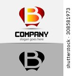 letter b logo design template | Shutterstock .eps vector #308581973