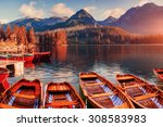 sunrise. fantastic shtrbske... | Shutterstock . vector #308583983
