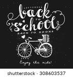 back to school blackboard...   Shutterstock .eps vector #308603537