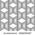 design seamless monochrome...   Shutterstock .eps vector #308609687