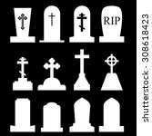 Tombstone  Grave Icon Set