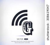 letter g  icon    Shutterstock .eps vector #308619047