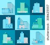 medical building healthcare... | Shutterstock . vector #308625557