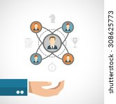 connected people concept with... | Shutterstock . vector #308625773