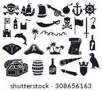 Pirates Icons Set  Sabre  Skul...