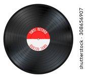 shiny gramophone vinyl lp... | Shutterstock .eps vector #308656907