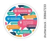 speech bubbles   creative... | Shutterstock .eps vector #308667233