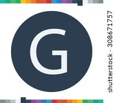 g letter icon. | Shutterstock .eps vector #308671757