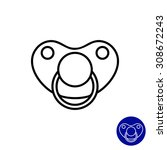 pacifier icon | Shutterstock .eps vector #308672243