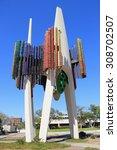 los angeles  california  usa  ... | Shutterstock . vector #308702507