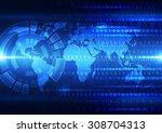 vector digital global... | Shutterstock .eps vector #308704313
