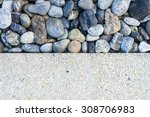 Two Tone Background Stone And...