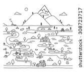 eco travel in doodle style....   Shutterstock .eps vector #308723717