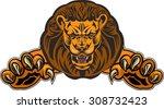lion jump   Shutterstock .eps vector #308732423