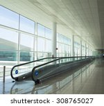 conveyor belt for people  in a... | Shutterstock . vector #308765027