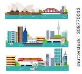 australia landscape | Shutterstock .eps vector #308770013