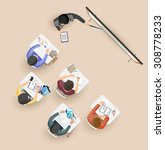 classroom. flat design. | Shutterstock .eps vector #308778233